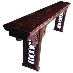 Original Long Altar Table Carved Spandrel