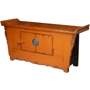 Original Orange Sideboard w Everted Ends