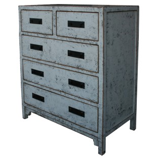 Grey Chinese Chest of Drawers/Tall Boy