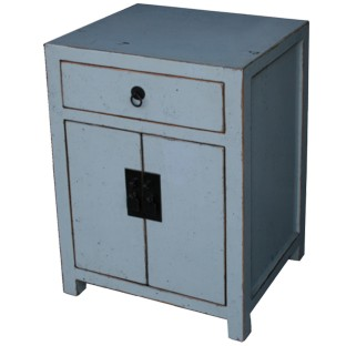 White / Light Grey Bedside Table