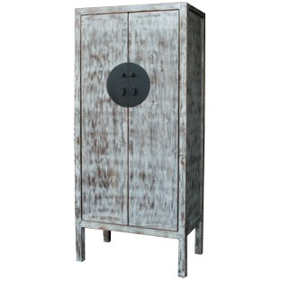 Grey Distressed Chinese Wedding Cabinet