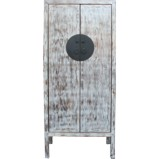 Grey Distressed Chinese Cupboard