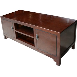 Brown Lacquer Low Sideboard/TV Unit