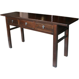 Original Natural Elm Wide Console Table