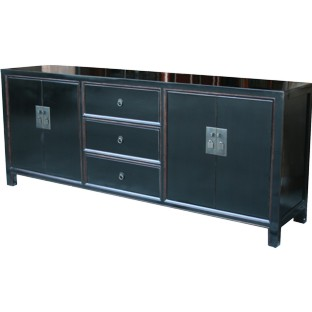 Black Large Lacquer Sideboard/Buffet