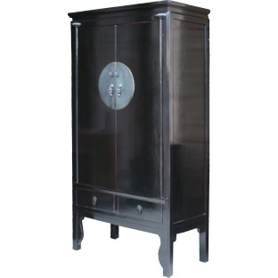 Large Chinese Black Wedding Cabinet