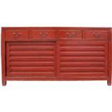 Red Japanese Style Mizuya Sideboard