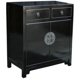 Black Lacquer Medium Side Cabinet