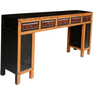 Original Manchurian Long Painted Console Table