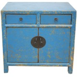 Chinese Antique Light Blue Cabinet