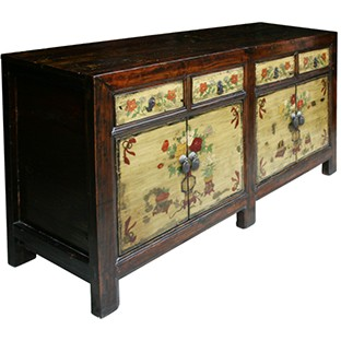 Original Mongolian Painted Cabinet