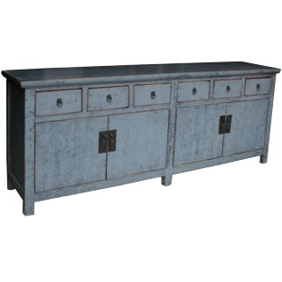 Hampton Dove Grey Super Long Sideboard