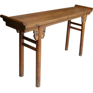 Honey Everted End Wood Console Table
