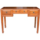 Original Brown Three Drawers Hall Table Desk