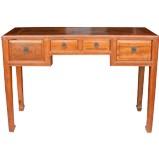 Original Brown Three Drawers Hall Table Desk