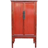 Red Medium Chinese Cabinet
