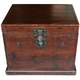 Brown Antique Wood Trunk