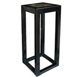 Black Stone Inlay Side Table
