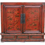 Original Red Small Cabinet