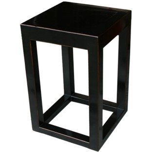 Black Lacquer Square Side Table