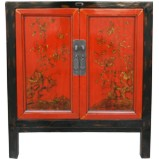 Chinese Antique Red Painted Cabinet