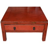 Red Coffee Table with Drawer