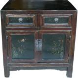 Original Maroon Chinese Cabinet