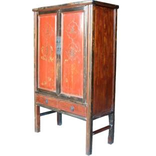 Red Chinese Wedding Cabinet Original