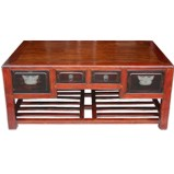 Chinese Coffee Table Drawers Shelf