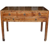 Original Brown 5 Drawers Hall Table Desk