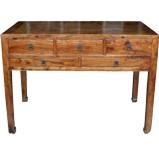 Original Brown 5 Drawers Hall Table Desk