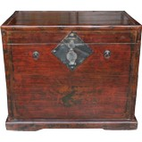 Brown Antique Wood Trunk Painting