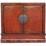 Original Red  Cabinet w/Gold Drawing