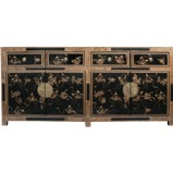 Black Lacquer Butterfly Sideboard