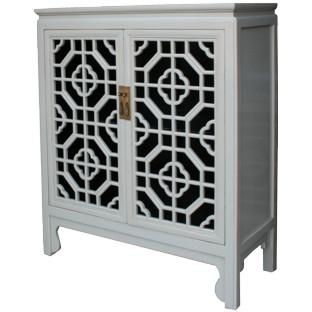 Grey Chinese Medium Cabinet Lattice Door