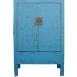 Blue Large Chinese Wedding Cabinet