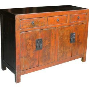 Chinese Original Orange Patina Sideboard
