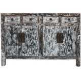Distressed Gray Sideboard
