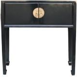 Black Lacquer Short Console Table