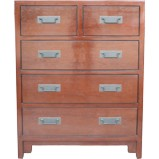 Brown Chinese Chest of Drawers Tall Boy