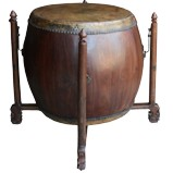 Chinese Antique Large Wood Drum