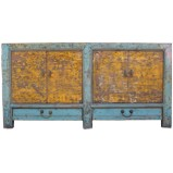 Original Turquoise & Yellow Sideboard