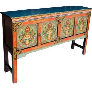Tibetan Four Door Hall Table