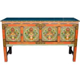 Tibetan Four Door Hall Table
