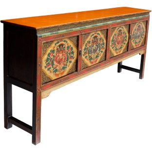 Large Tibetan Four Door Table