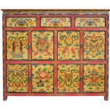 Tibetan Medium Painted Cabinet
