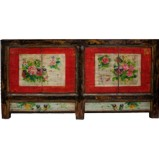 Red Painted Mongolian Sideboard