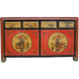 Flora Painted Mongolian Sideboard