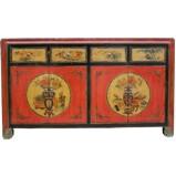 Flora Painted Mongolian Sideboard