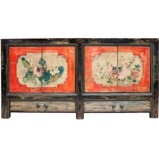 Chinese Painted Mongolian Sideboard